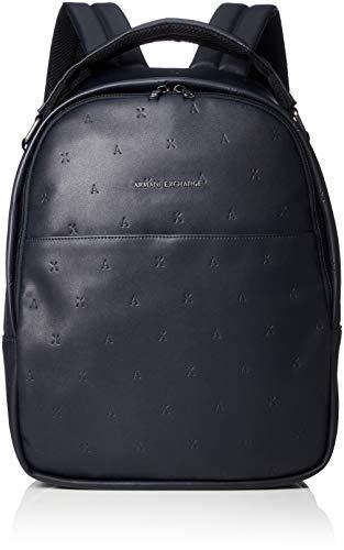 Armani Exchange A X Herren Embossed Logo Backpack Rucksäcke, Navy/Navy, Einheitsgröße