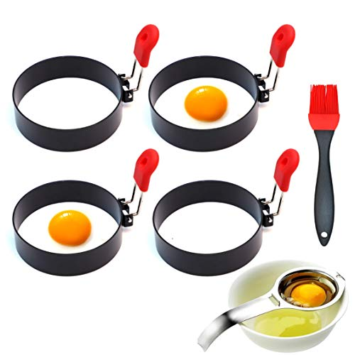 3.5 Inch Large Egg Rings for Griddle or Frying Round Egg for Breakfast. Egg Mcmuffins Mold Perfect...
