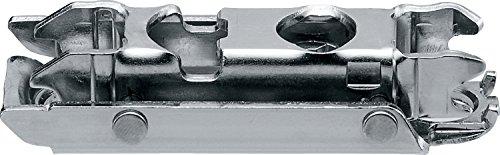 RONIN FURNITURE FITTINGS® Blum CLIP Montageplatte, gerade (20/32 mm), 0 mm, Stahl, Schrauben, HV: Exzenter 175H3100