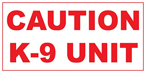 Caution K-9 Unit Red Car Door Magnets Magnetic Signs-Qty 2