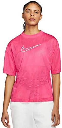 Nike Sportswear Camiseta de Mujer de Tela Rosa - CK1456-674