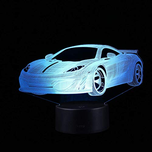 JALAL Acrylic 3D Illuminated LED Lamp Optical Illusion Desk Night Light, 7 Color Changing, Remote Control with USB Cable Great for Home Party Decor Gift