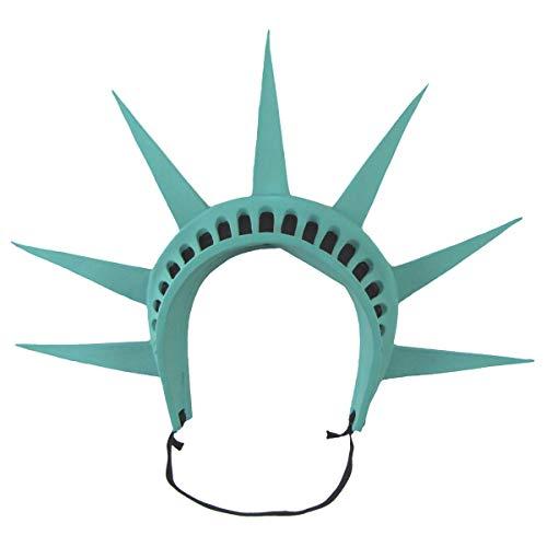 Treasure Gurus Green Foam Rubber Statue Lady Liberty Crown Prop Costume Accessory Hair Headband