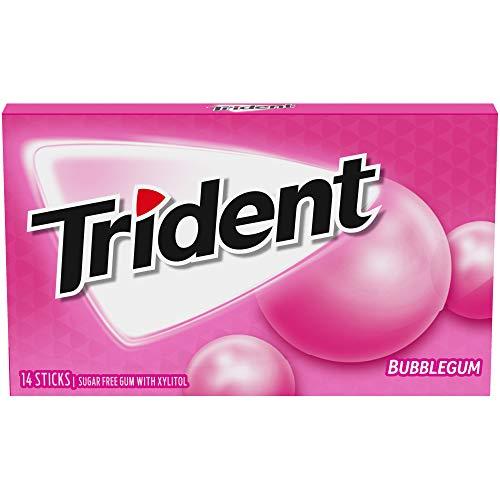 Trident Bubblegum Sugar Free Gum, 12 Packs of 14 Pieces (168 Total Pieces) from Mondelez International