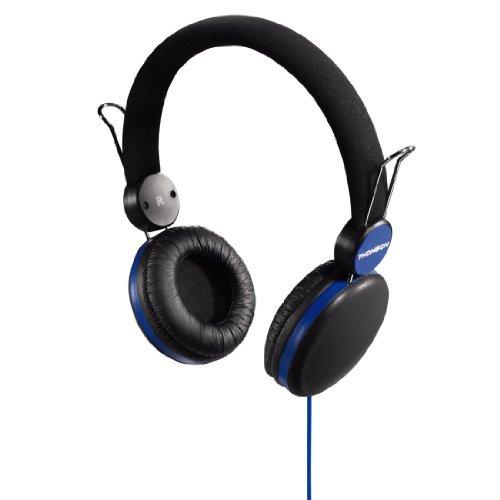 Thomson 00131836 HED 2203 Over-Ear Kopfhörer (3,5mm Klinkenstecker, Empfindlichkeit: 110dB) schwarz/blau