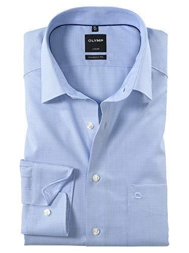 'Olymp–Camicia da uomo 'Luxor Modern Fit a maniche lunghe blu 44