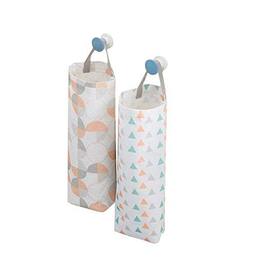 akinly bolsa de plástico bolsa de basura soporte impermeable montaje en pared dispensador de bolsa de la compra bolsa de basura organizador para oficina en casa cocina, juego de 2 color2