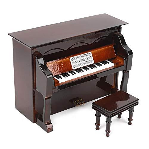 Atyhao Piano en Miniatura con Banco, Mini Piano de casa de m