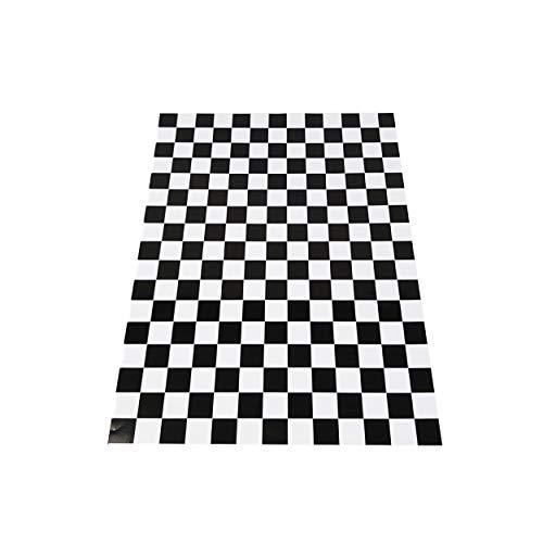 4R Quattroerre.it 1018 Klebefolie für Car Wrapping Karos Schwarz 35 x 50 cm