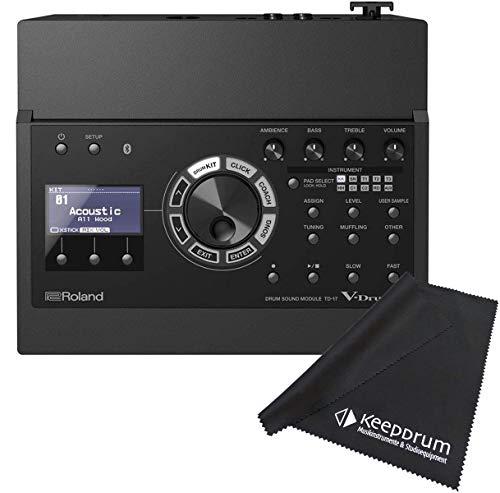 Roland TD-17 E-Drum Sound Modul + keepdrum Mikrofaser-Reinigungstuch Poliertuch