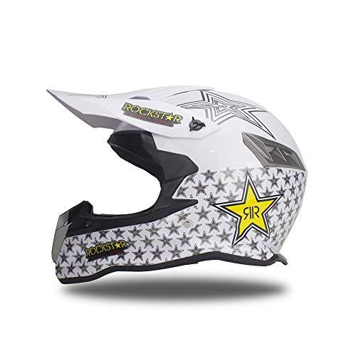 Woljay Off Road Helm Motocross-Helm Motorradhelm Motocrosshelme Fahrrad ATV Weiß (M)