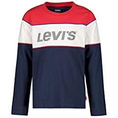 Levi's Camiseta de Manga Larga Color Azul para Niños