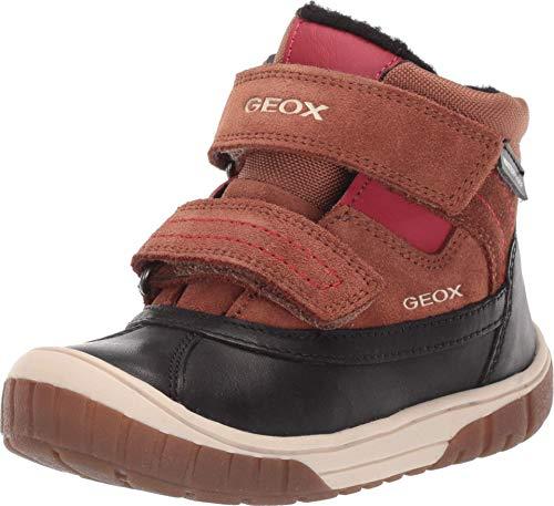 Geox Kinder Baby Jungen Omar Waterproof 2 (Kleinkind), Braun (Braun / Rot), 21 EU