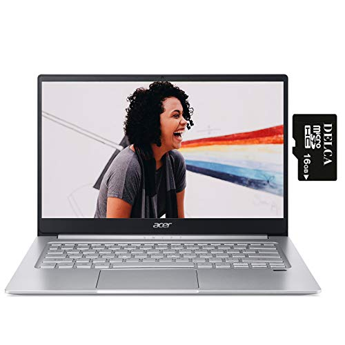2020 Acer Swift 3 14 Premium Laptop Computer 14' FHD IPS Display AMD Hexa-Core Ryzen 5 4500U (i7-8665U) 8GB DDR4 512GB SSD Backlit Fingerprint WiFi HDMI Win 10 + Delca 16GB Micro SD Card