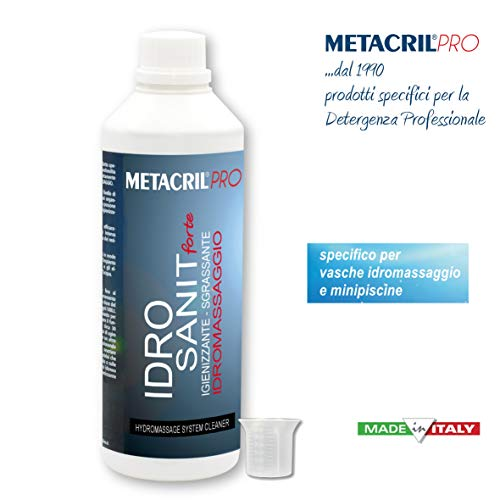 Desinfectante y sanificante para hidromasaje (Teuco, Albatros, etcétera)Idro Sanit Forte, 500ml + Dosificador Graduado