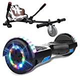 """MARKBOARD Self Balancing Scooter with Hoverkart, Bluetooth Speaker 6.5"""" Smart Electric Scooter Skateboard with LED Light on wheel Hoverboards"""