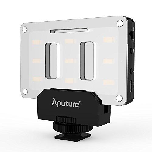 Aputure AL-M9 Amaran Lighting Up Pint-Sized LEDフィルライト 小型 ビデオライト 9 SMD電球付き TLCI 95+ 9段階明るさ調整可能 超薄型 軽量