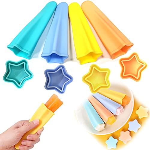 Eisformen Eis Am Stiel Silikon,Eisformen Silikon,Wassereis Formen,Ice Pop Molds Formen Set für Kinder Baby und Erwachsene,Wiederverwendbare Stieleisformer Klein - BPA Frei
