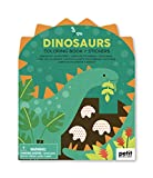 Coloring Book with Stickers Dinosaurs