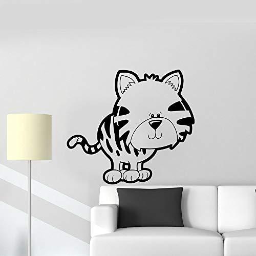 AGiuoo Gatito mascota vinilo adhesivo de pared habitación de los niños lindo juguetes de dibujos animados niños pegatinas de pared sala de estar dormitorio decoración accesorios regalos 57x63cm