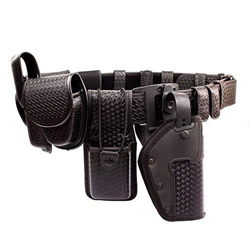 ROCOTACTICAL 10-in-1 Police Duty Utility Belt Rig, Sentinel Duty Web Belt, Modular Law Enforcement Duty Belt with Pouches-Handcuff Case, Radio Pouch, Pistol Holster, Light Holder, Medium
