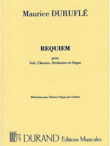 Maurice Durufle: Requiem Op.9 (Vocal Score). Für SATB (Gemischter Chor), Klavierbegleitung