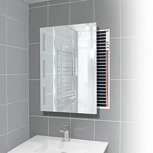 Elektrische Spiegelheizung 80x50cm Folie Infrarot-Heizung Badheizung