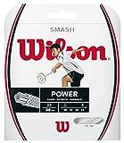 Wilson Smash 66 Cordaje de bádminton, 10 m, Unisex, Blanco, Grosor 0,68 mm