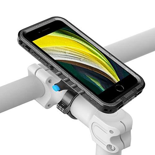SPORTLINK Soporte Movil Bicicleta para iPhone SE 2020 - iPhone 7 / iPhone 8 Soporte Moto & Funda Impermeable, Porta Bike Mount para 20-35 mm Manillar (4,7 Pulgadas)