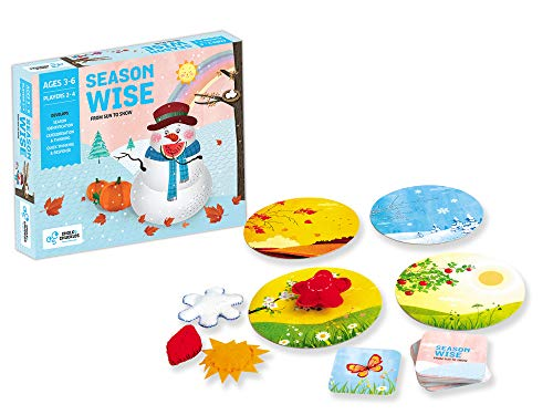 Chalk and Chuckles Season Wise - Preschool Educational Game - Thinking, Sorting, Association and Fast Reaction Game- Make Weather Fun for Kids, Age 3 and Up, 4-6 Years