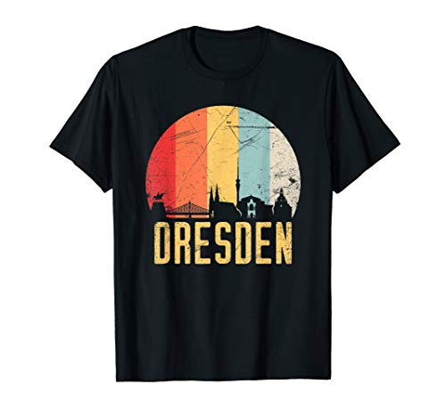 Dresden I 80er Retro Souvenir I Vintage Design T-Shirt
