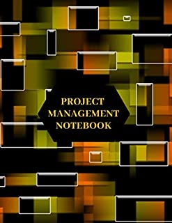 Project Management Notebook: Large Work and Task Organization Record Log Book, Planning Organizer Tracker Logbook, To Do List Pad, Idea Notes, Budget ... x11