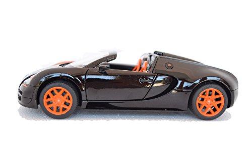 Bugatti Veyron 16.4 Grand Sport Vitesse, schwarz/orange, Modellauto, Fertigmodell, Rastar 1:18