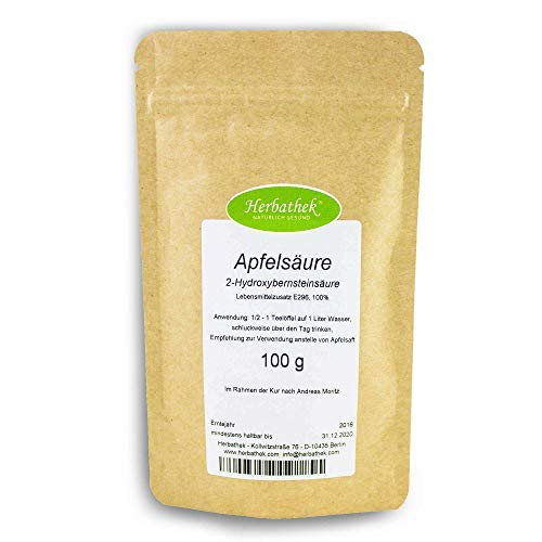 Apfelsäure 100g von Herbathek als Apfelsaftersatz | Apfelsäure Made in Germany