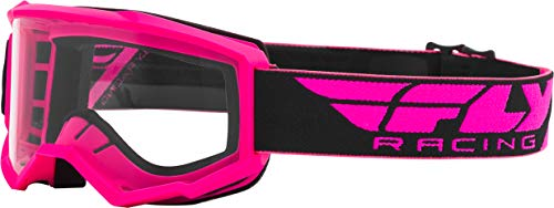 FLY Racing Focus Goggles for Motocross, Off-road, ATV, UTV, and More (PINK with Clear Lens)
