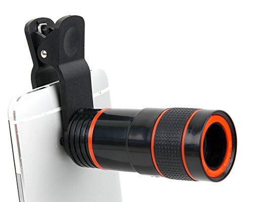 DURAGADGET Zoom, Objetivo, Lente, telescopio para Smartphone Samsung Galaxy A9, C5, C7,...