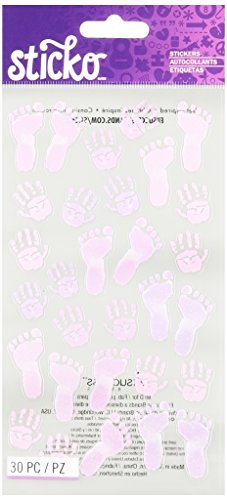 Sticko Pastel Baby Girl Prints Stickers