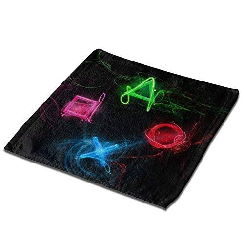 Toalla cuadrada 3d Joypad botón de juego Arte ultra suave y altamente absorbente toallas de mano paños de cocina para el hogar, hotel, spa, cocina 33 x 33 pulgadas