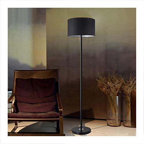 LED Vloerlamp, Woonkamer Slaapkamer Studie Vloerlamp, Zwarte Lamp Cover Voet Schakelaar Rechtopstaande Lamp