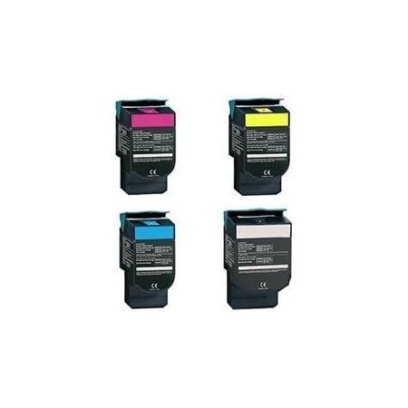 Speedy Toner Compatible Toner Cartridges Replacement for Lexmark C540N CMYK - (4 Pack)