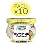 La Piara Hummus de Garbanzos Tradicional sin Gluten, Pack de 10 de 180 gr