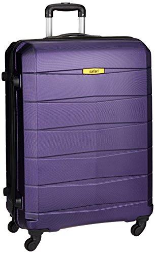 Safari Polycarbonate 77 cms Purple Hard Sided Suitcase (REGLOSS ANTISCRATCH 4W 77 Purple)