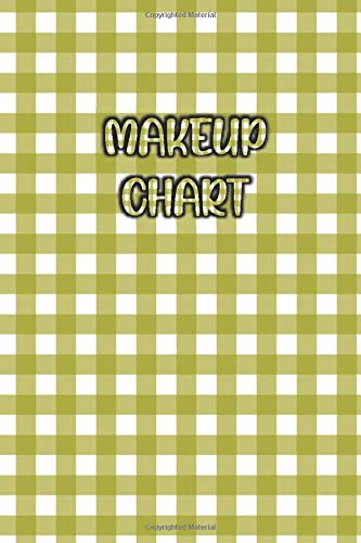 MAKEUP CHART: Elegant / Beautiful Green Pattern Cover- Face Charts for Makeup Artists, Vloggers and...