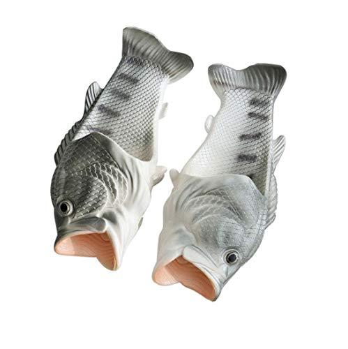 Moodeng Pescado Zapatillas Unisex Creativo Funny Beach Fish Flops Chanclas y Sandalias Piscina
