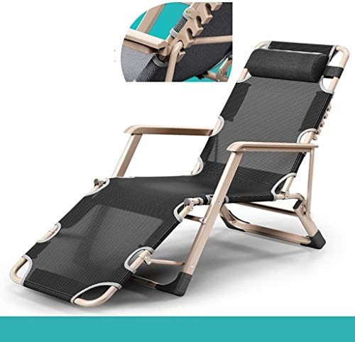 JIUYUE Lounge Chair Adjustable Recliner Outdoor Free Folding Reclining Recliner Deck Chair (Color : Gray, Size : B)