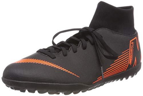 Nike Unisex-Erwachsene Mercurial Superfly X 6 Club TF AH7372 08 Fußballschuhe, Schwarz (Blacktotal Orangewhite 081), 41 EU