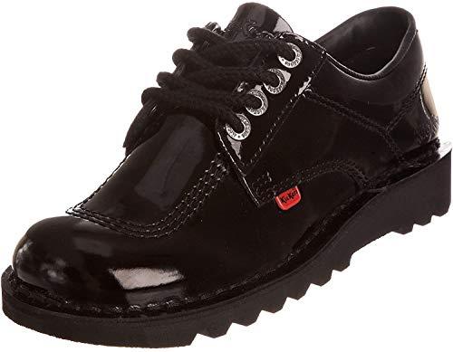 Kickers Kick Lo Patent, Damen Oxford Schnürhalbschuhe - Patent schwarz (Patent Black) - 39 EU (6 UK)