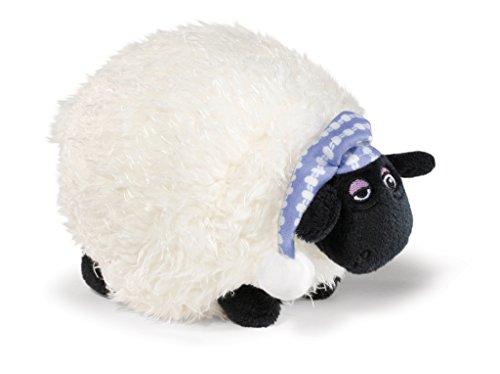 NICI 41467 Shaun das Schaf Kuscheltier Shirley mit Schlafmütze, 17 cm, Farbe: Weiß/Schwarz