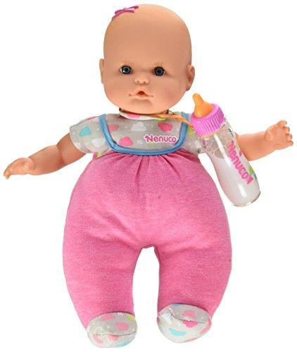 Nenuco con Biberón Mágico Rosa- Cuerpo muy blando, para niños a partir de 10 meses  (Famosa 700014121)