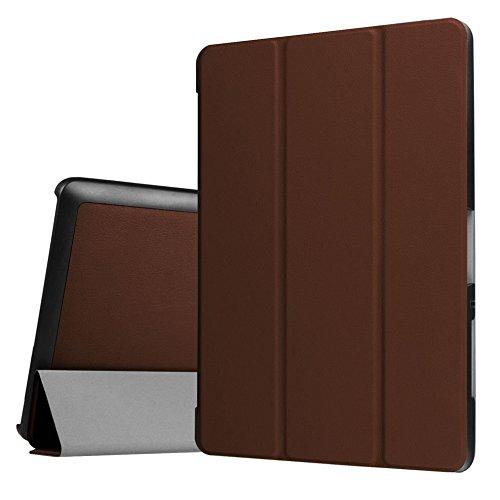 Hülle für Acer Iconia One Tab 10 B3-A30 B3-A32 A3-A40 10.1 Zoll Schutzhülle Etui Tablet Tasche Smart Cover (Braun) NEU